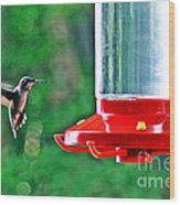 Hummingbird Love Wood Print