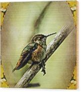 Hummingbird Noveau Wood Print