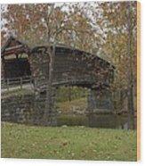 Humpback Bridge Right Side View Wood Print