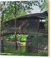 Humpback Covered Bridge 2 Wood Print