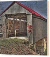 Artistic Humpback Covered Bridge Wood Print