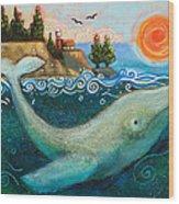 Humpback Whales In Santa Cruz Wood Print