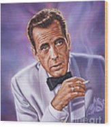 Humphrey Bogart Wood Print