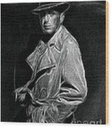 Humphrey Bogart - Pencil Wood Print