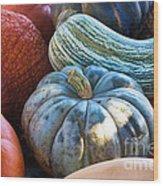 Humungous Edible Gourds Wood Print