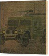 Humvee Midnight Desert  Wood Print