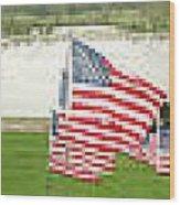 Hundreds Of American Flags September 11 Memorial In Saint Louis Missouri Wood Print
