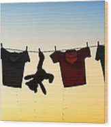 Hung Out To Dry Wood Print by Tim Gainey