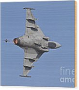 Hungarian Air Force Saab Jas-39 Gripen Wood Print