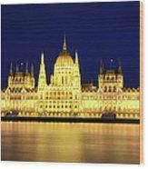 Hungarian Parliament Building, Budapest Wood Print