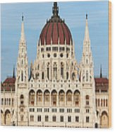 Hungarian Parliament Building In Budapest Wood Print