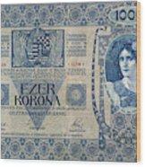 Hungary Banknote, 1902 Wood Print
