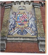 Hungary Coat Of Arms In Budapest Wood Print
