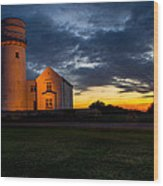 Hunstanton Lighthouse Wood Print by Andrew Lalchan