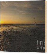 Hunstanton Sunset Wood Print