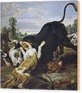 Hunted Bull Wood Print