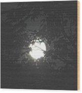 Hunter's Moon Wood Print