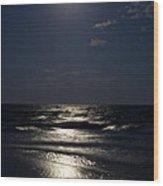 Hunter's Moon Iv Wood Print by Michelle Wiarda
