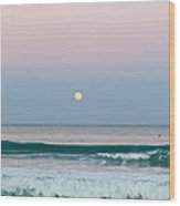 Hunters Moonrise Wood Print by Michelle Wiarda