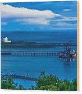 Hunterston Deep Water Terminal Ayrshire Wood Print