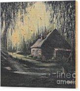 Hunting Cabin Wood Print