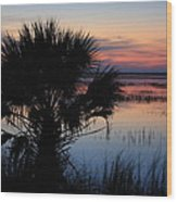 Hunting Isalnd Tidal Marsh Wood Print by Mountains to the Sea Photo