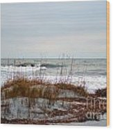 Hunting Island Beach Wood Print
