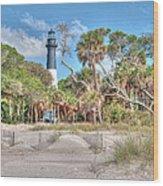Hunting Island - Beach View Wood Print