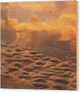Hunting Island Sunrise Reflections Wood Print