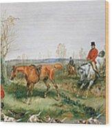 Hunting Scene Wood Print