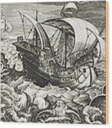 Hunting Sea Creatures Wood Print