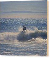 Huntington Beach California Surfer Wood Print