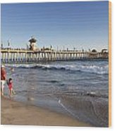 Huntington Beach  Wood Print