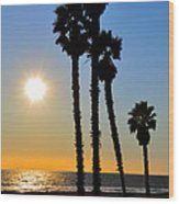 Huntington Beach Sunset Wood Print