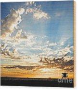 Hallelujah  Sunset Wood Print