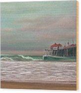 Huntington Beach Morning Wood Print