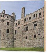 Huntly Castle - 3 Wood Print