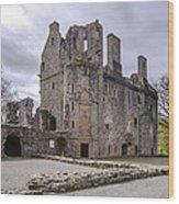 Huntly Castle - 5 Wood Print