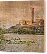 Huntly Power Station Wood Print