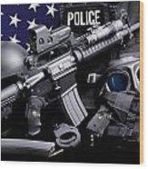 Huntsville Police Wood Print