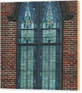 Stained Glass Arch Window Wood Print
