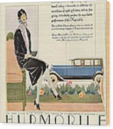 Hupmobile 1929 1920s Usa Cc Cars Womens Wood Print by The Advertising Archives