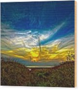 Huron Evening 2 Oil Wood Print