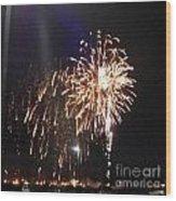 Huron Ohio Fireworks 2 Wood Print by Jackie Bodnar
