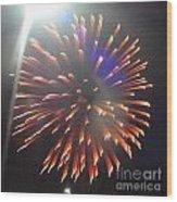 Huron Ohio Fireworks 5 Wood Print by Jackie Bodnar