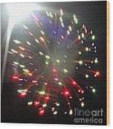 Huron Ohio Fireworks1 Wood Print
