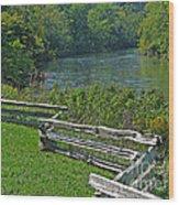 Huron River Bend Wood Print