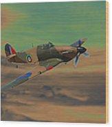 Hurricane Fighter Plane 2 Wood Print