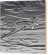 Hurricane Fighter Plane Relief Wood Print