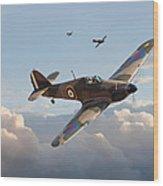 Hurricane - Fighter Sweep Wood Print
